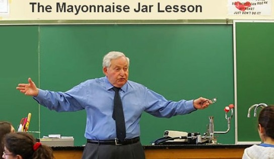 Mayonaise jar lesson
